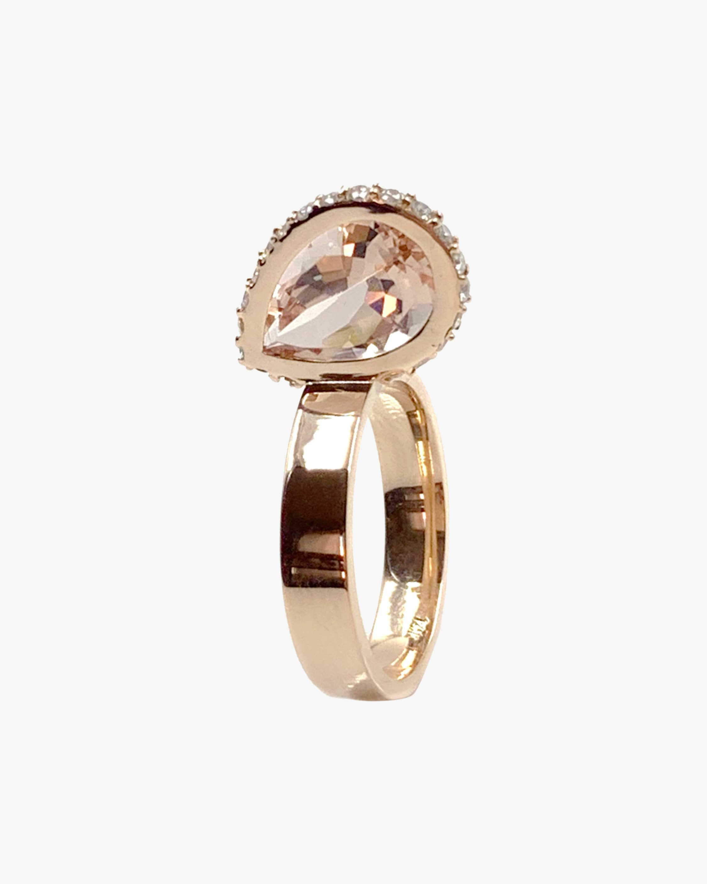 Leslie Paige Morganite & Diamond Pearched Ring 1