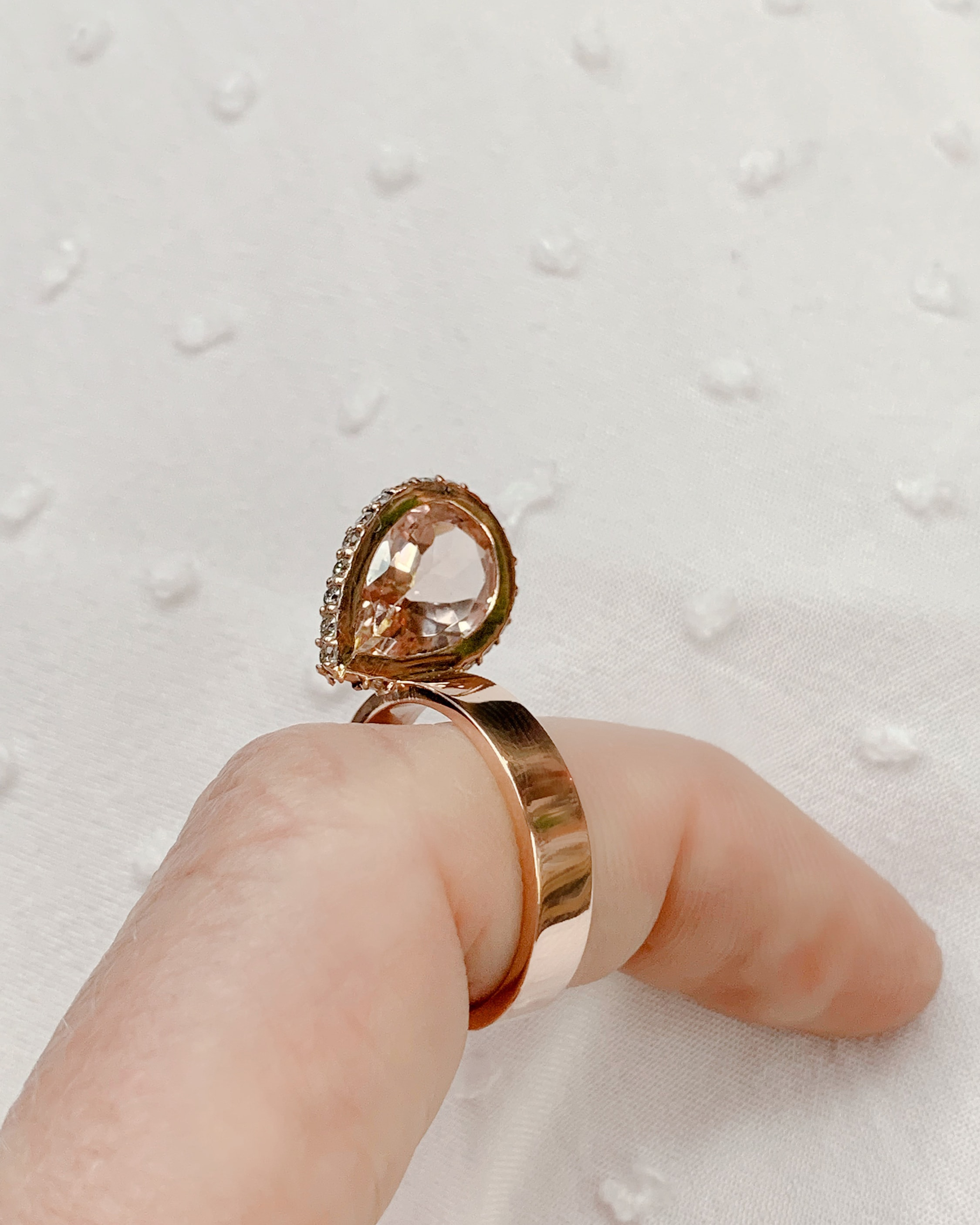 Leslie Paige Morganite & Diamond Pearched Ring 2