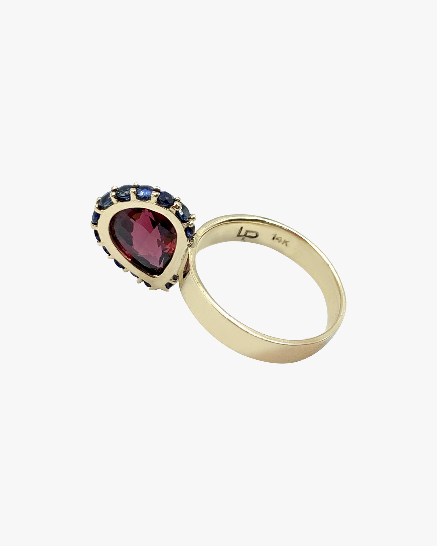 Leslie Paige Garnet & Blue Sapphire Perched Ring 1