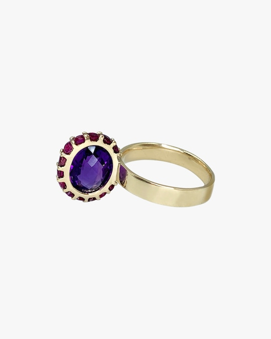 Leslie Paige Amethyst & Pink Sapphire Perched Ring 0