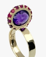 Leslie Paige Amethyst & Pink Sapphire Perched Ring 3