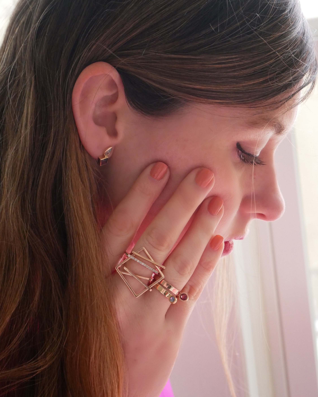 Leslie Paige Blue Sapphire Perched Ring 2
