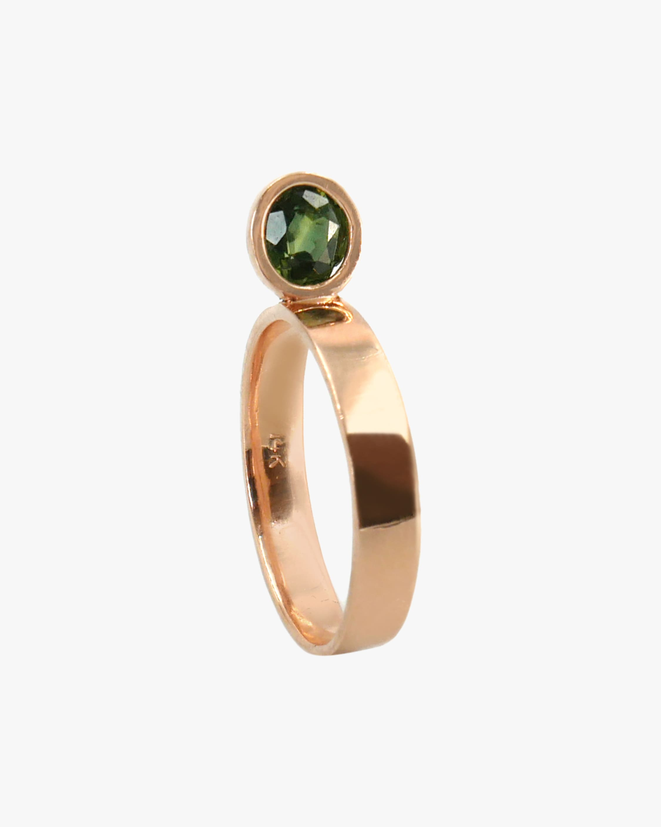 Leslie Paige Green Sapphire Perched Ring 1