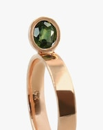 Leslie Paige Green Sapphire Perched Ring 3