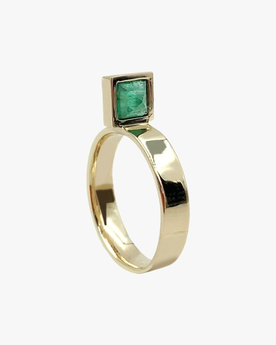 Leslie Paige Emerald Perched Ring 0