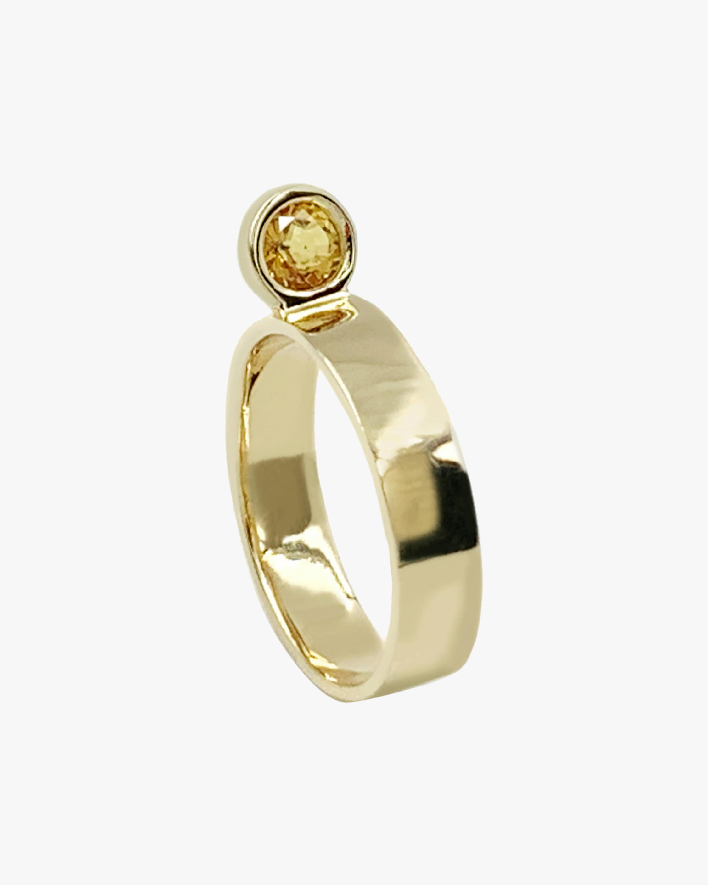 Leslie Paige Yellow Sapphire Perched Ring 1