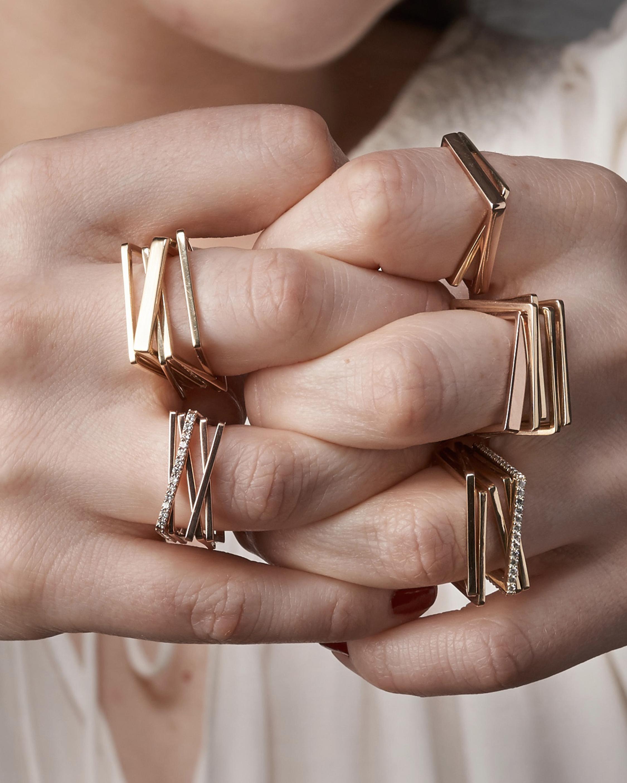 Leslie Paige Diamond Five-Band Puzzle Ring 2
