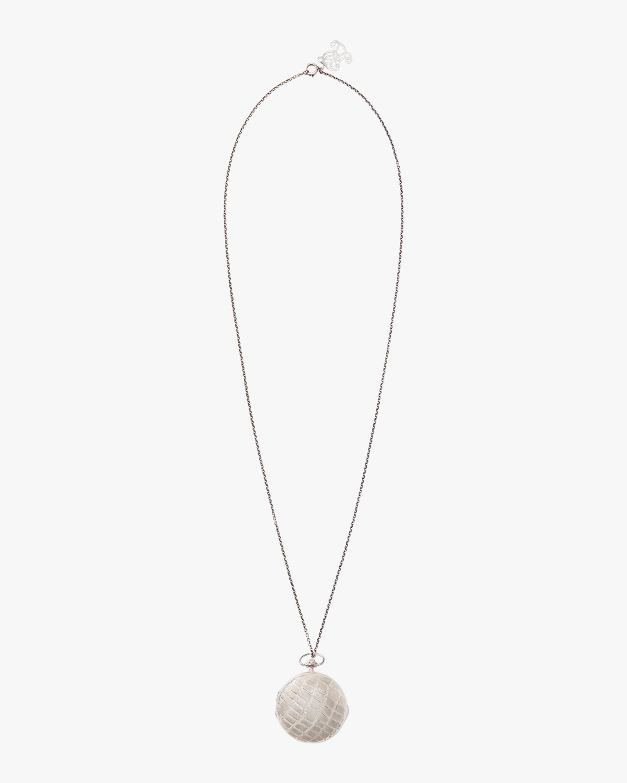 Large Metal Snakeskin Locket Necklace