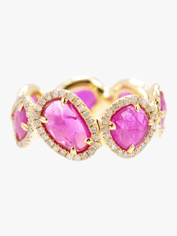 Rose Cut Ruby Ring