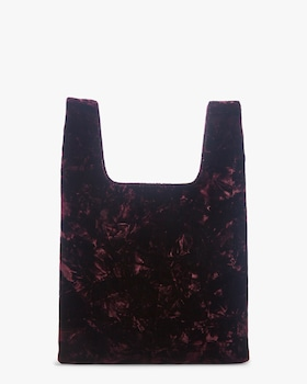 Folded Velvet Mini Shopper Bag