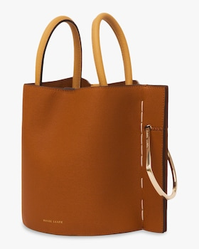 Bobbi Leather Bucket Bag