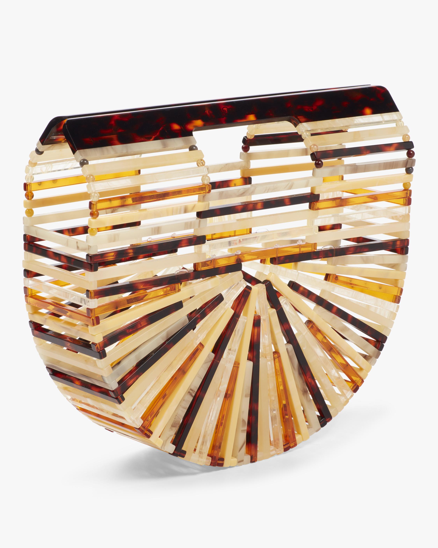 Cult Gaia Ark Mini Amber Acrylic Clutch 2
