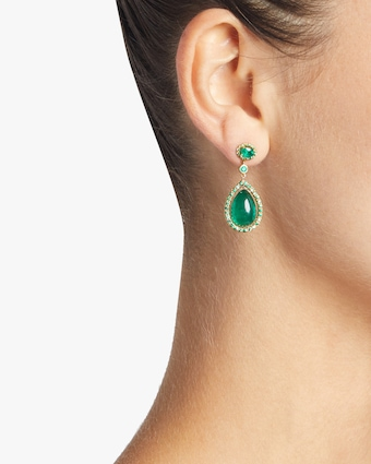 Couture Emerald and Gold Earrings