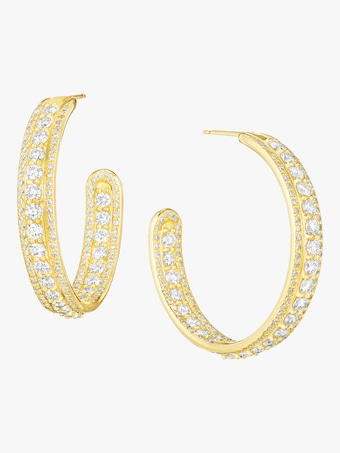 Couture Diamond Hoop Earrings