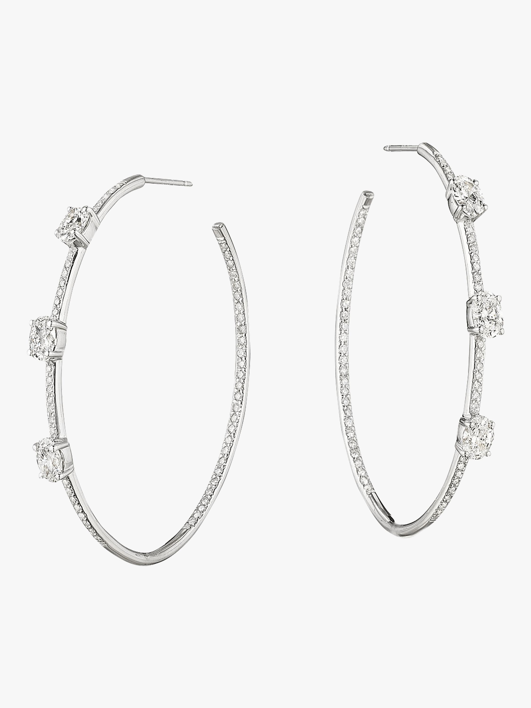 Couture Oval Diamond Lula Hoops