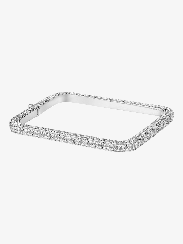 Piece Eternity Square Diamond Bangle