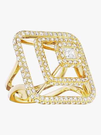 Piece Pyramid Diamond Ring