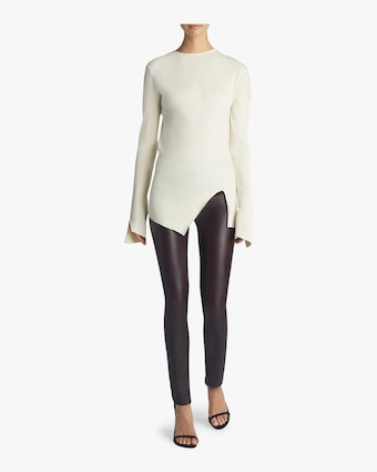 Helmut Lang Leather Leggings 2