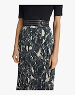 Helmut Lang Snake Print Pleated Skirt 2