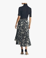 Helmut Lang Snake Print Pleated Skirt 3
