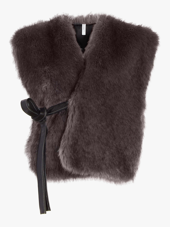 Helmut Lang Faux Fur Waistcoat 0