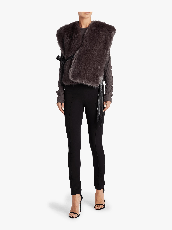 Helmut Lang Faux Fur Waistcoat 1