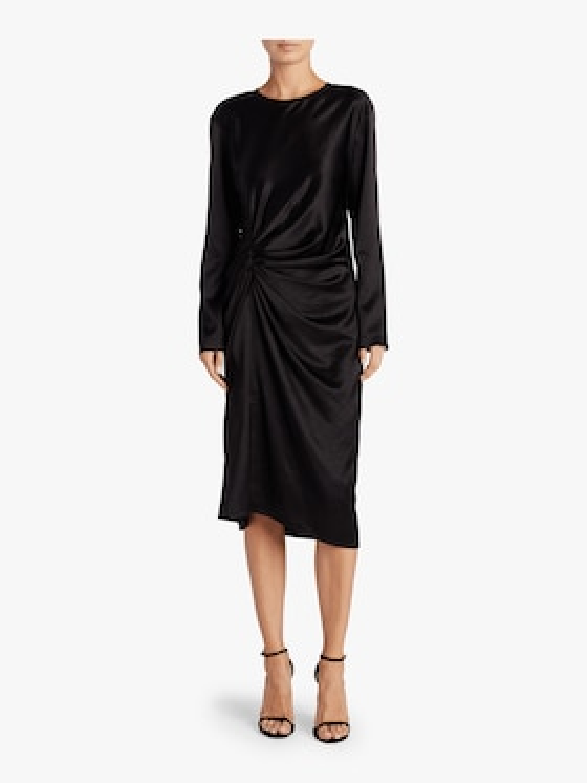 Crinkle Long Sleeve Dress