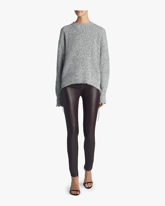 Helmut Lang Distressed Relaxed Sweater 1
