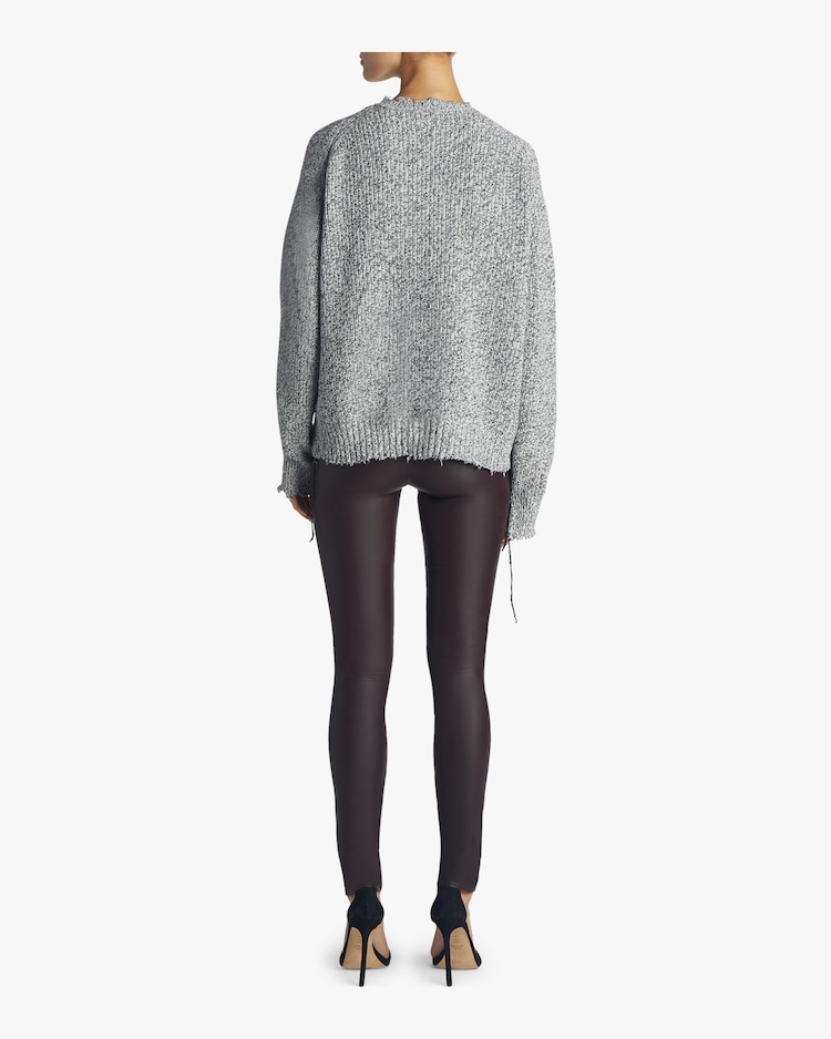 Distressed Relaxed Sweater Helmut Lang
