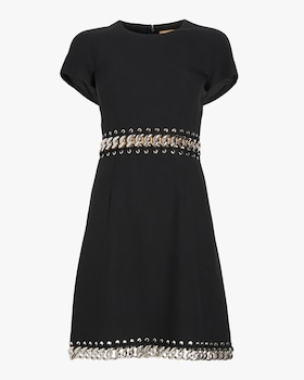 Chain Link Short Sleeve Shift Dress