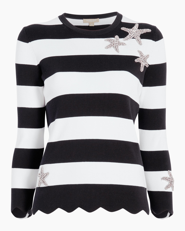 Starfish Striped Scallop Sweater