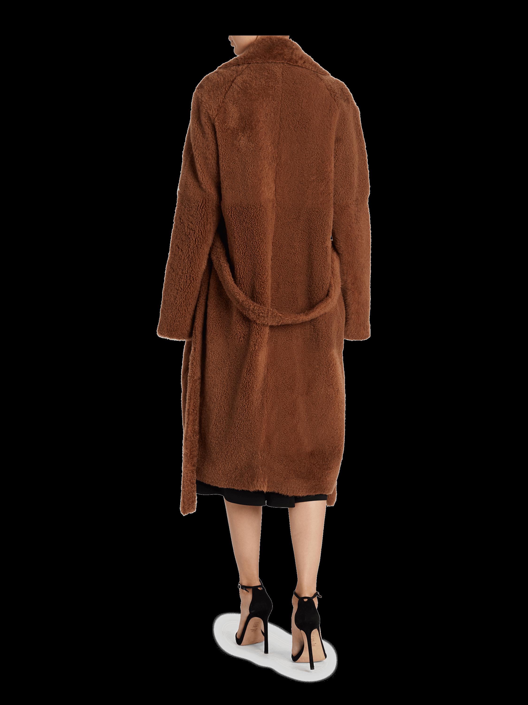 Belted Shearling Coat Helmut Lang