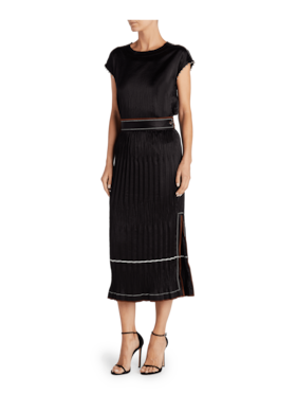 Crinkle Pleated Skirt