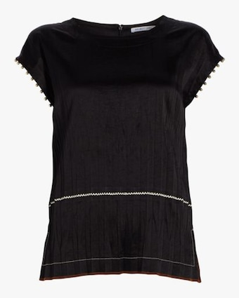 Helmut Lang Crinkle Pleated Top 1