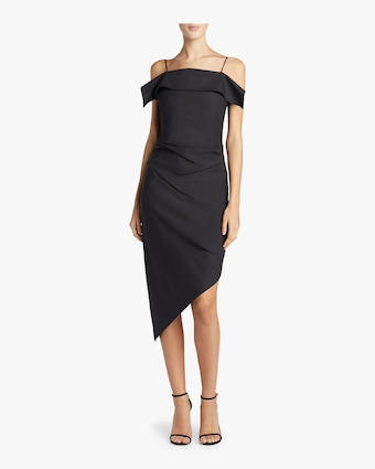 Helmut Lang Asymmetric Wool Dress 2