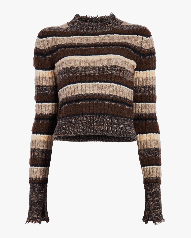 Ombre Rib Shrunken Sweater