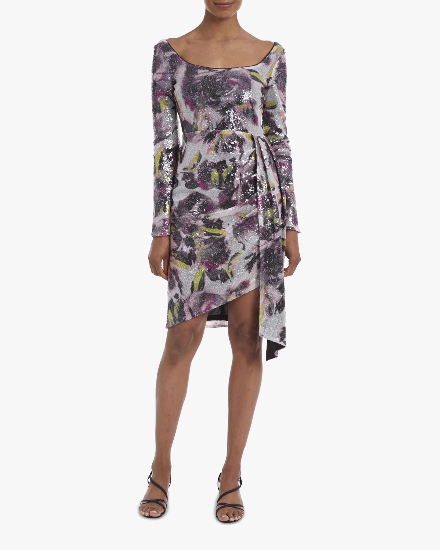 One33 Social Asymmetrical-Drape Sequin Mini Dress 1