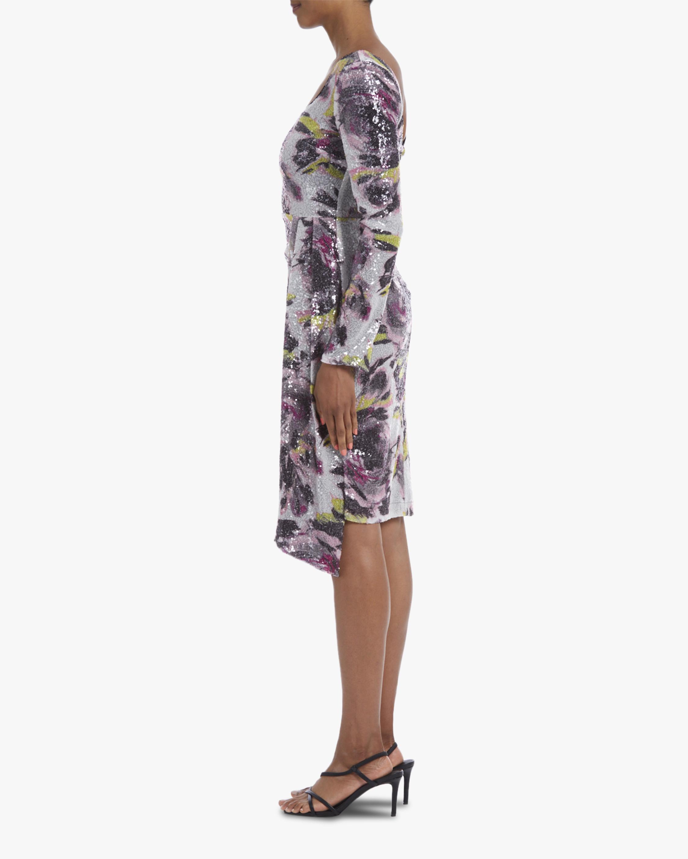 One33 Social Asymmetrical-Drape Sequin Mini Dress 2