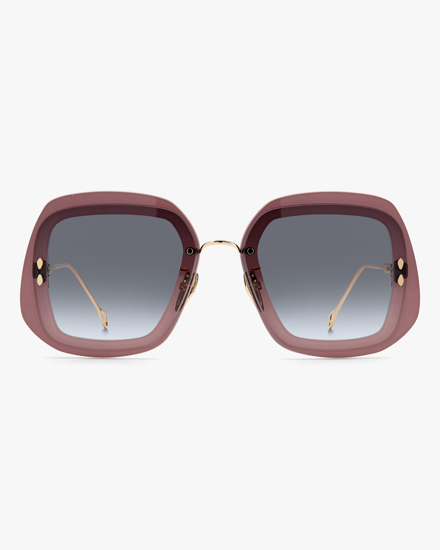 Isabel Marant Purple Geometric Sunglasses 0