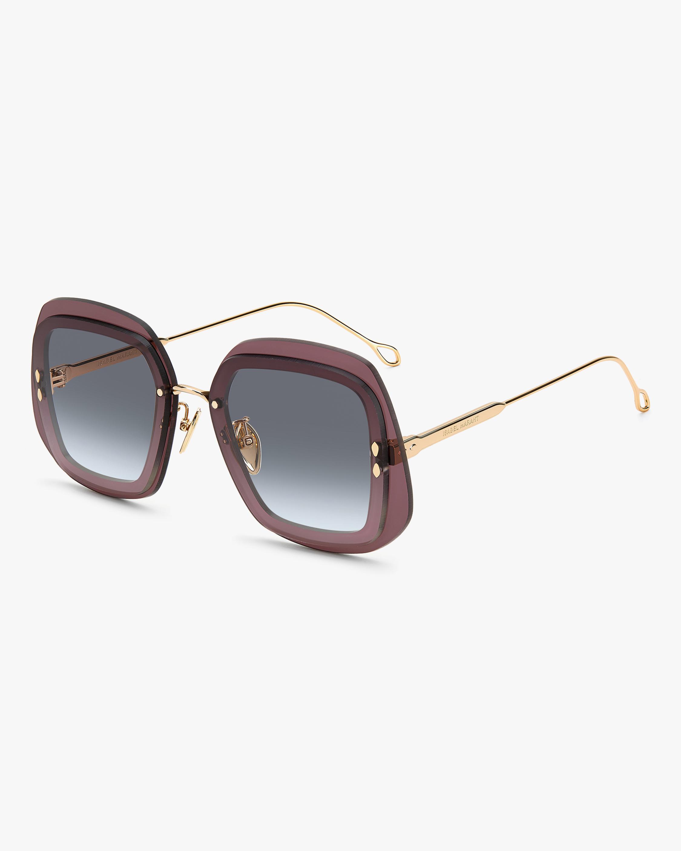 Isabel Marant Purple Geometric Sunglasses 1