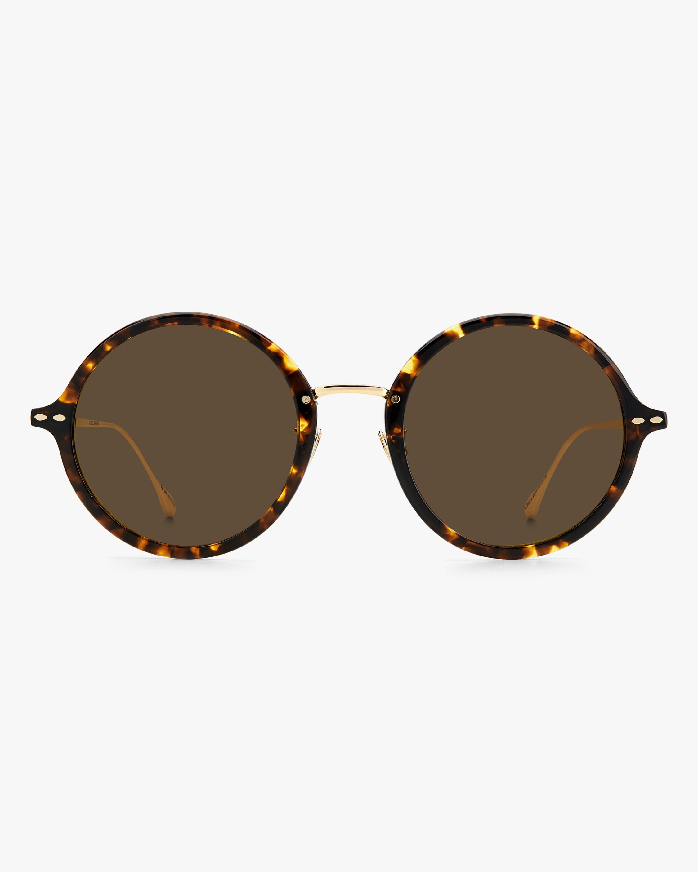 Isabel Marant Havana Modified Oval Sunglasses 0