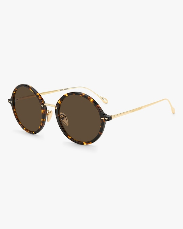 Isabel Marant Havana Modified Oval Sunglasses 1
