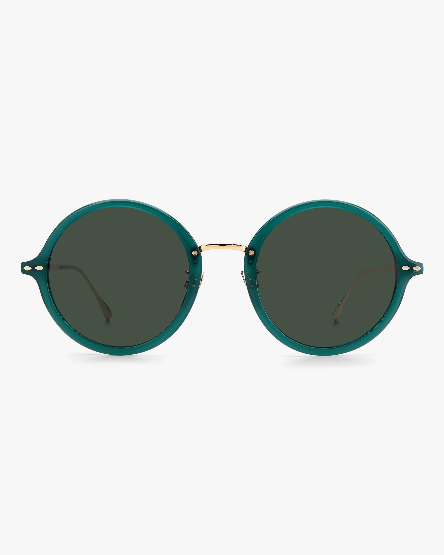 Isabel Marant Green Modified Oval Sunglasses 0