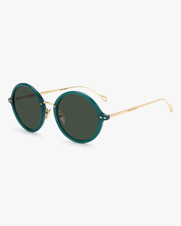 Isabel Marant Green Modified Oval Sunglasses 1