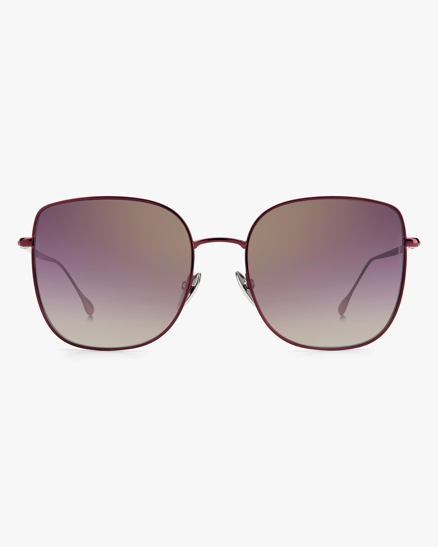 Isabel Marant Burgundy Square Sunglasses 0