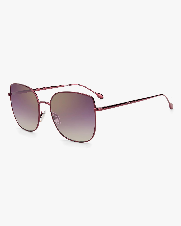 Isabel Marant Burgundy Square Sunglasses 1