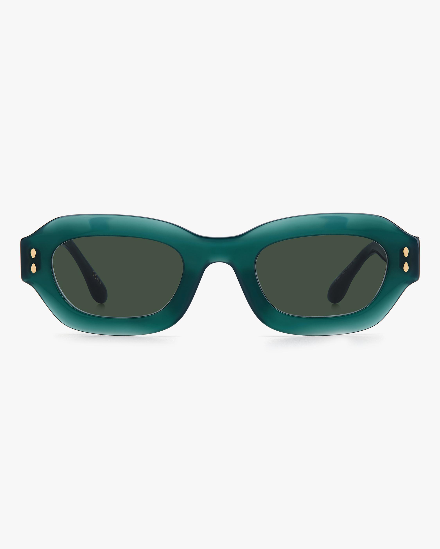 Isabel Marant Green Geometric Sunglasses 0