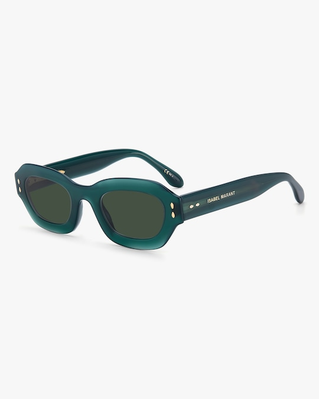 Isabel Marant Green Geometric Sunglasses 1