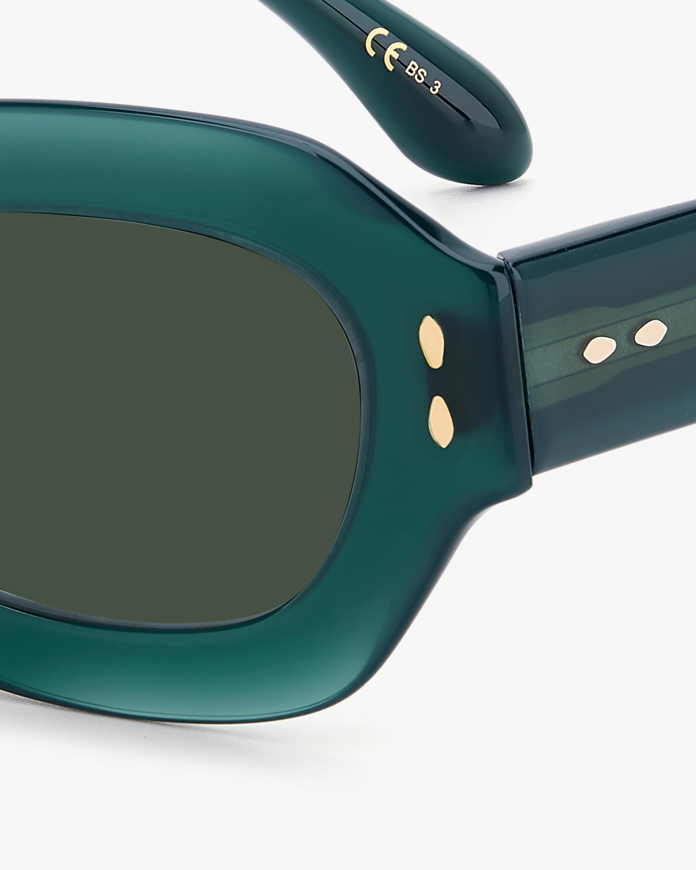 Isabel Marant Green Geometric Sunglasses 3