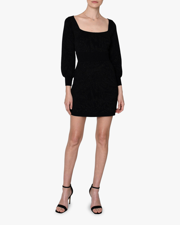 Nicole Miller Puff-Sleeve Square-Neck Mini Dress 1